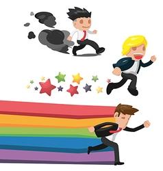 Man Fantasy Run Cartoon Concept vector image