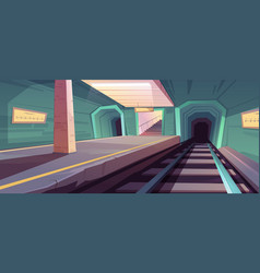 metro station empty subway platform vector image