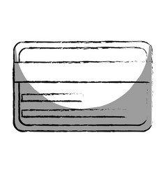 Monochrome blurred contour with credit card vector