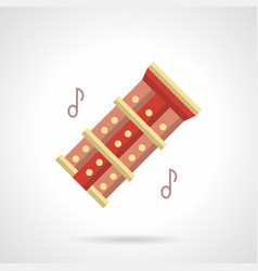 music folk instrument flat color icon vector image