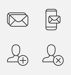 Network icons set collection insert phone vector
