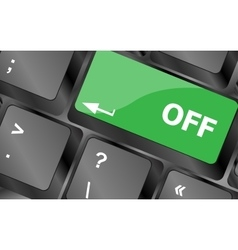 Off word on red keyboard button Keyboard keys vector