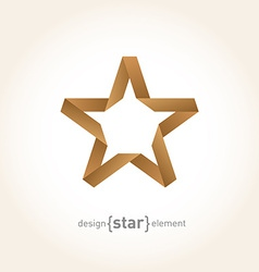 Origami Star from old paper on gradient background vector