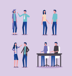 People business office vector