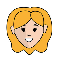 People happy face woman icon vector