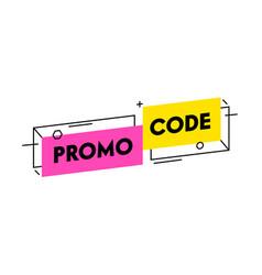 Promo code trendy banner simple design vector