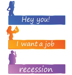 recession or job color vector image