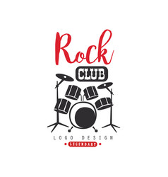 rock club logo design emblem for rock club or vector image