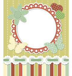Romantic vintage frame vector