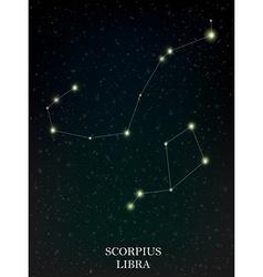 Scorpius and libra constellation vector