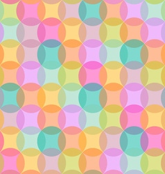 Seamless geometric pattern of colored circles vector