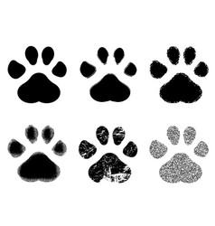 Set paw print vector