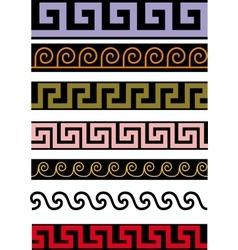 several antique decor vector image