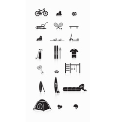 Sporting goods vector image