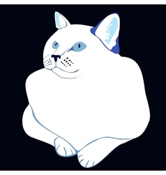 stylized white cat vector image