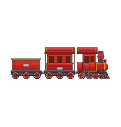 train toy cartoon vector image