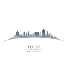 Tulsa Oklahoma city skyline silhouette vector