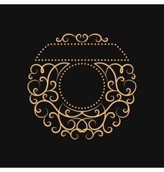 Vintage Calligraphic frame Modern Swirl Frame vector image