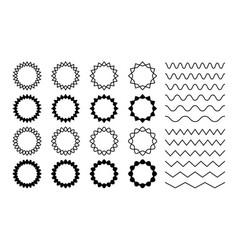 wave zigzag dividers undulating zig zag round vector image
