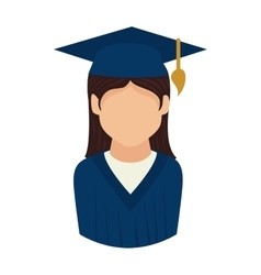 Woman graduate graduation education university vector