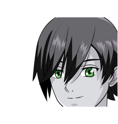 young man manga anime vector image