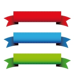 color ribbon banners vector image