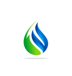eco bio water drop logo vector image