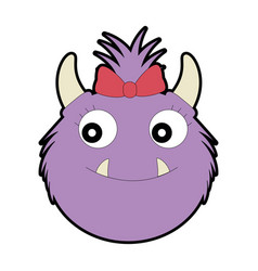 female furry monster character vector image
