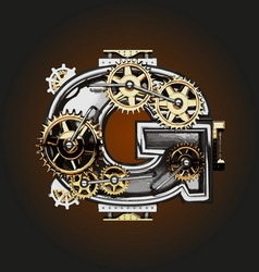g letter with gears vector image