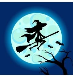 Halloween of mysterious night sky vector image