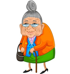 old lady vector image vector image