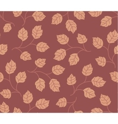 Seamless pattern autumn leaves colored in modern vector image vector image