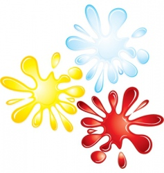 splash collection vector image vector image
