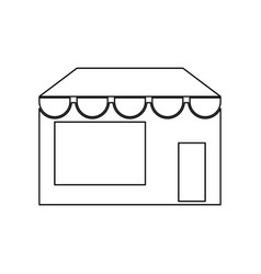 Store black color icon vector