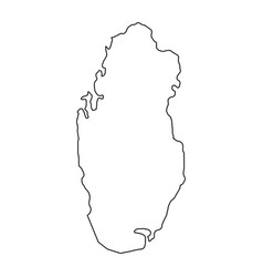 the qatar map of black contour curves of vector image