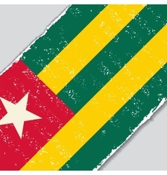 Togo grunge flag vector image