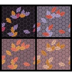 autumn sidewalk vector image vector image