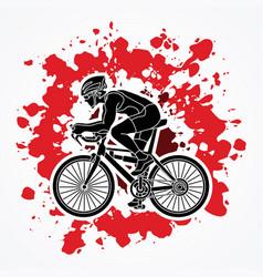 bicycle racing sport man biking vector image vector image