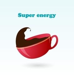 Concept and idea of super beverage vector image