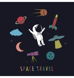 Funny astronaut vector image vector image