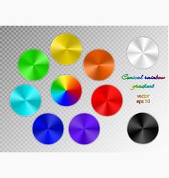 iridescent conical gradient vector image