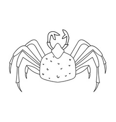 King crab icon in outline style isolated on white vector