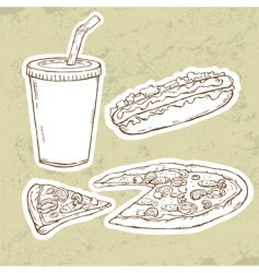 pizza v vector image