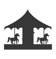 Pretty carousel icon vector