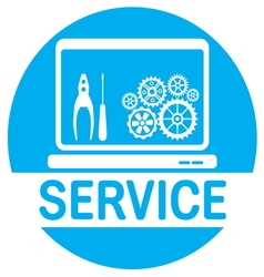 SERVICE COMPUTER3 vector image vector image