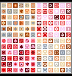 Set of four seamless mosaic floral patterns vector image