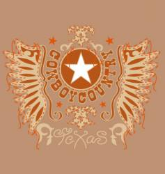 design of the old west vector image