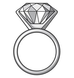 Diamond ring - ring with diamond vector