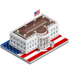 Election Infographic Usa White House Isometric vector image