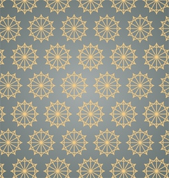 Retro Star Hexagon Pattern on Pastel Color vector image vector image